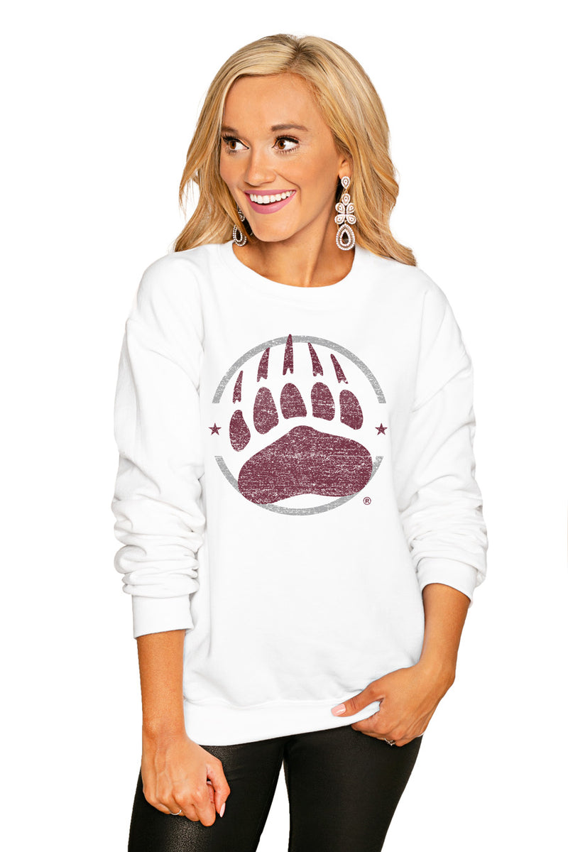 "MONTANA GRIZZLIES ""END ZONE"" PERFECT COZY CREW SWEATSHIRT - Gameday Couture"