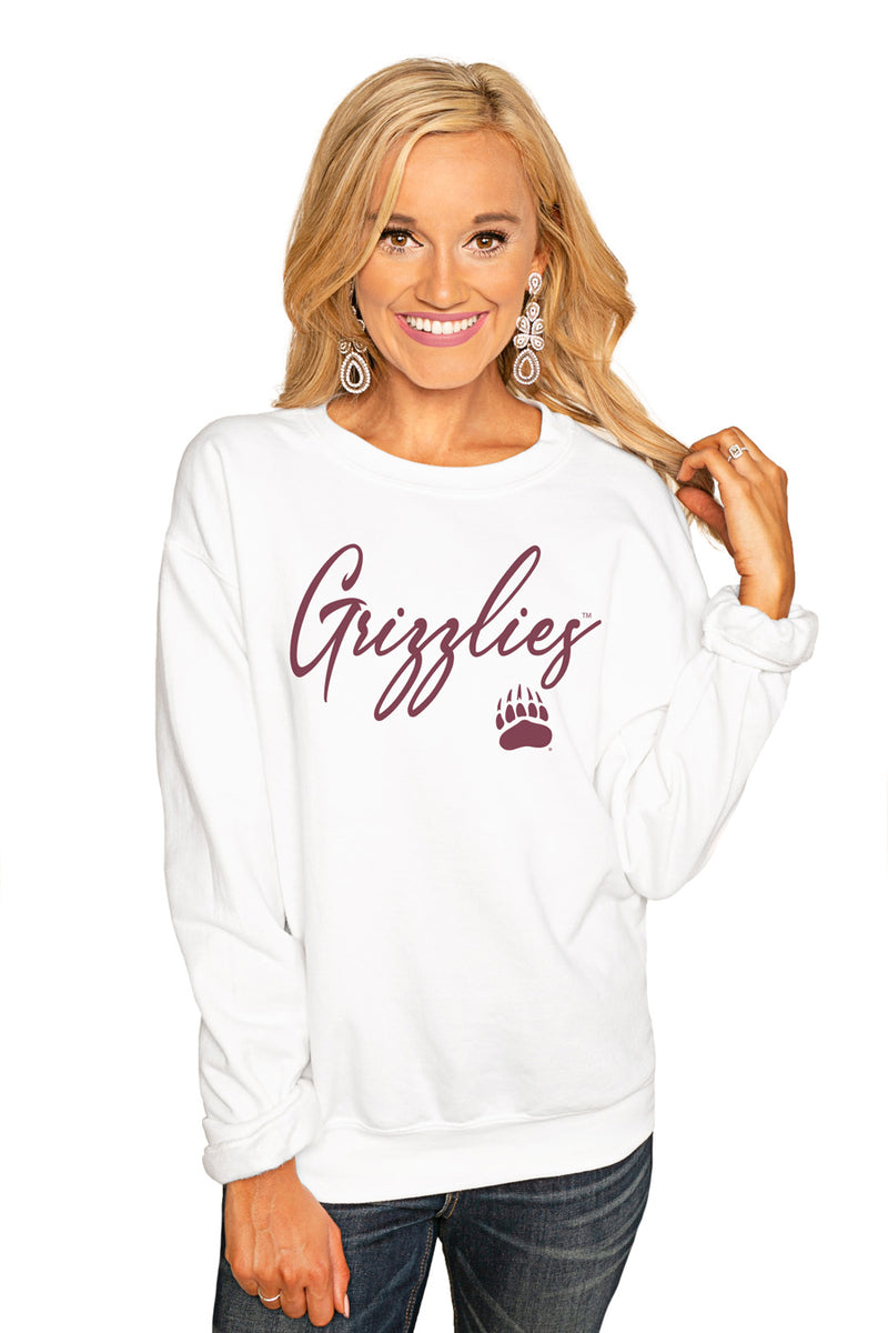 "Montana Grizzlies ""Win The Day"" Perfect Cozy Crew Sweatshirt - Gameday Couture"