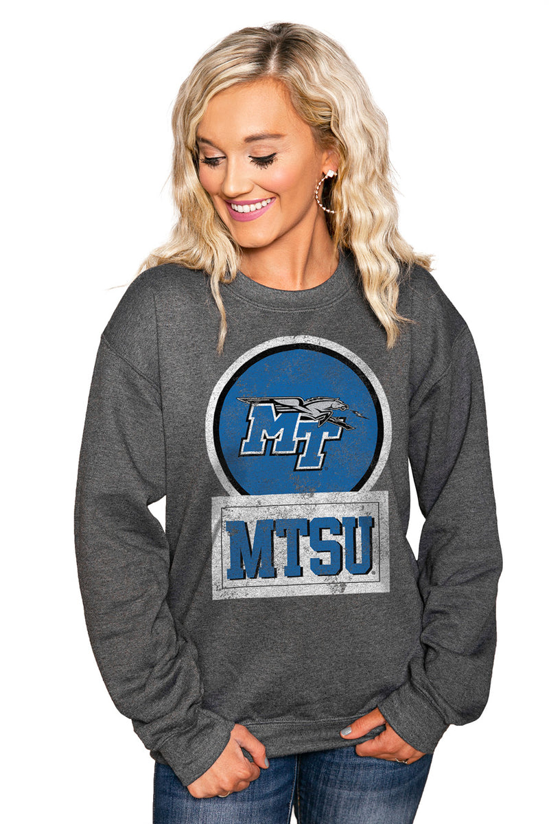 "MIDDLE TENNESSEE STATE ""GOOD VIBES"" Perfect Crew Sweatshirt - Gameday Couture"