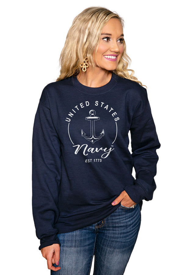 "US NAVY MIDSHIPMEN ""FOR THE HOME TEAM"" Perfect Crew Sweatshirt - Gameday Couture"