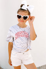 "Nebraska Cornhuskers ""Playing for the Home Team"" Youth Spin-Dye Top - Gameday Couture"