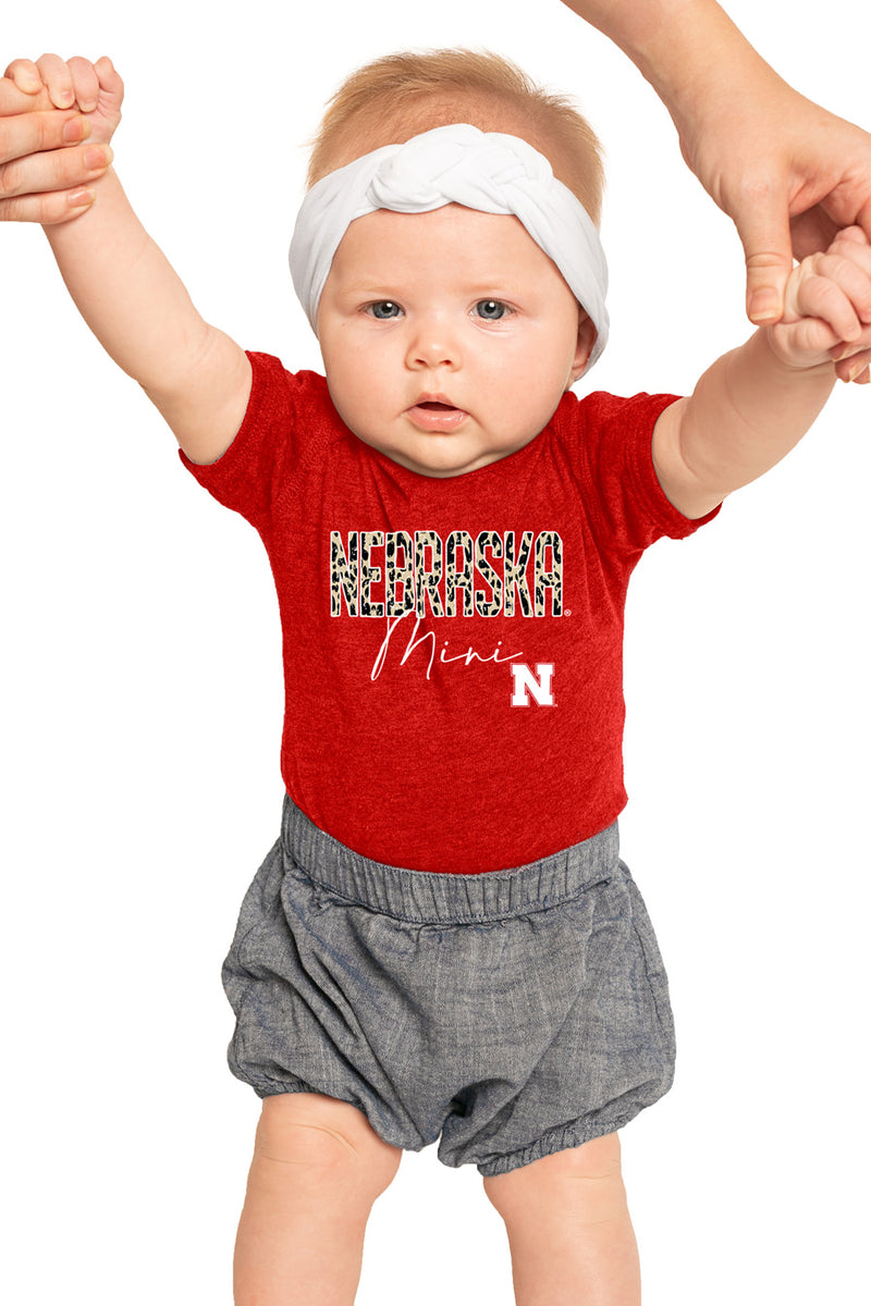 "Nebraska Cornhuskers ""Untamed Mini"" Onesie - Gameday Couture"