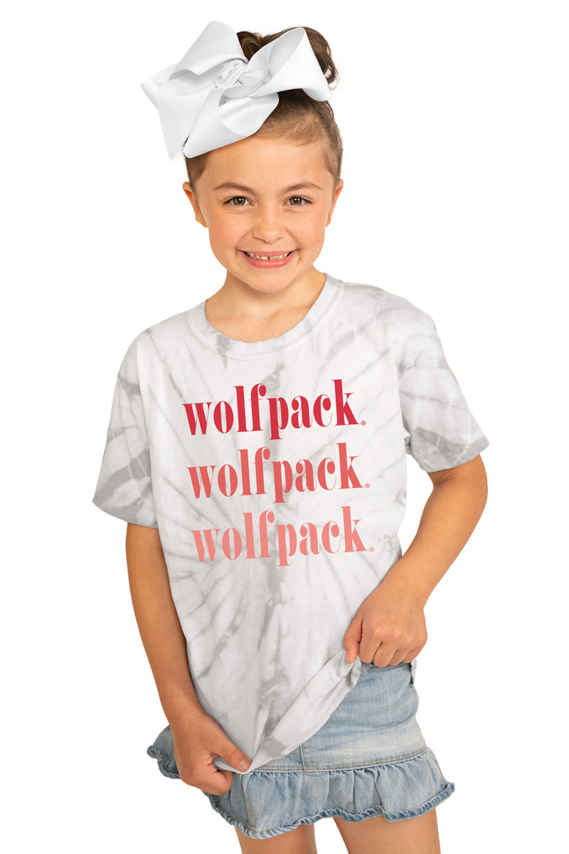 "Nc State Wolfpack ""Sweet Repeat"" Youth Spin-Dye Tee - Gameday Couture"
