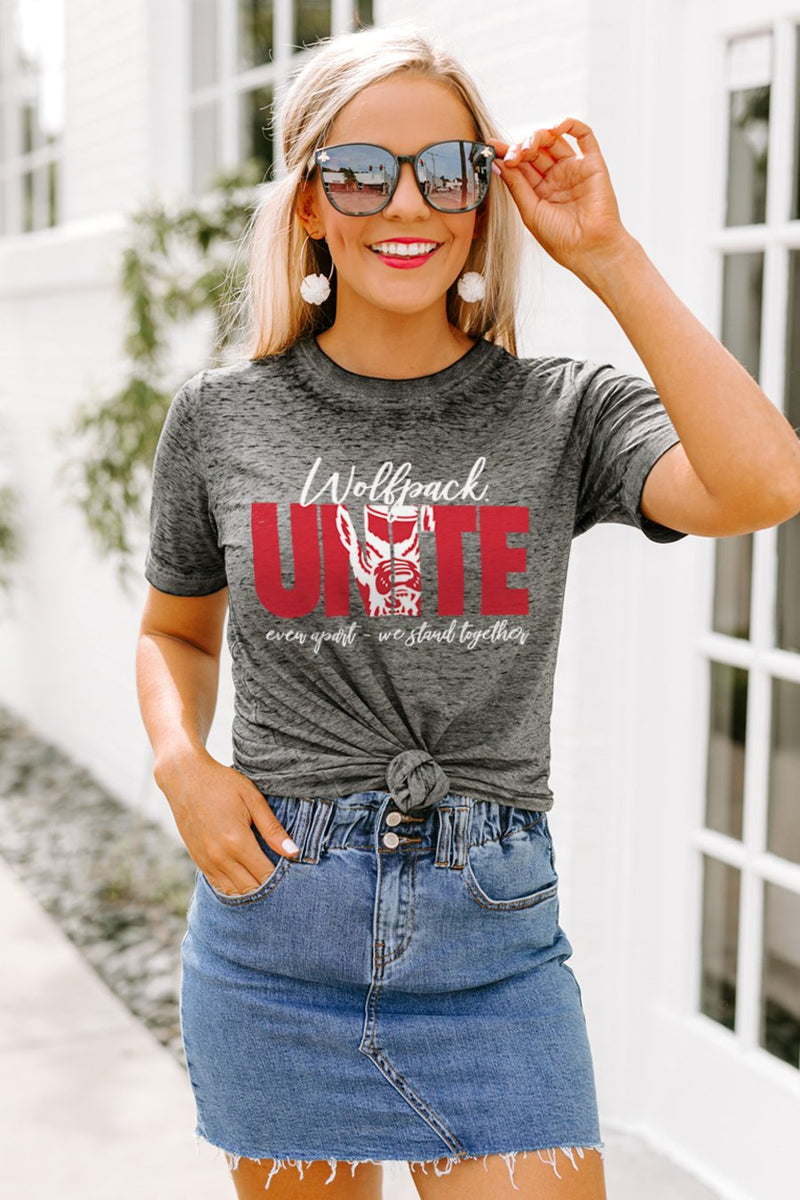 "NC State Wolfpack ""Rising Together"" Boyfriend Top - Gameday Couture"
