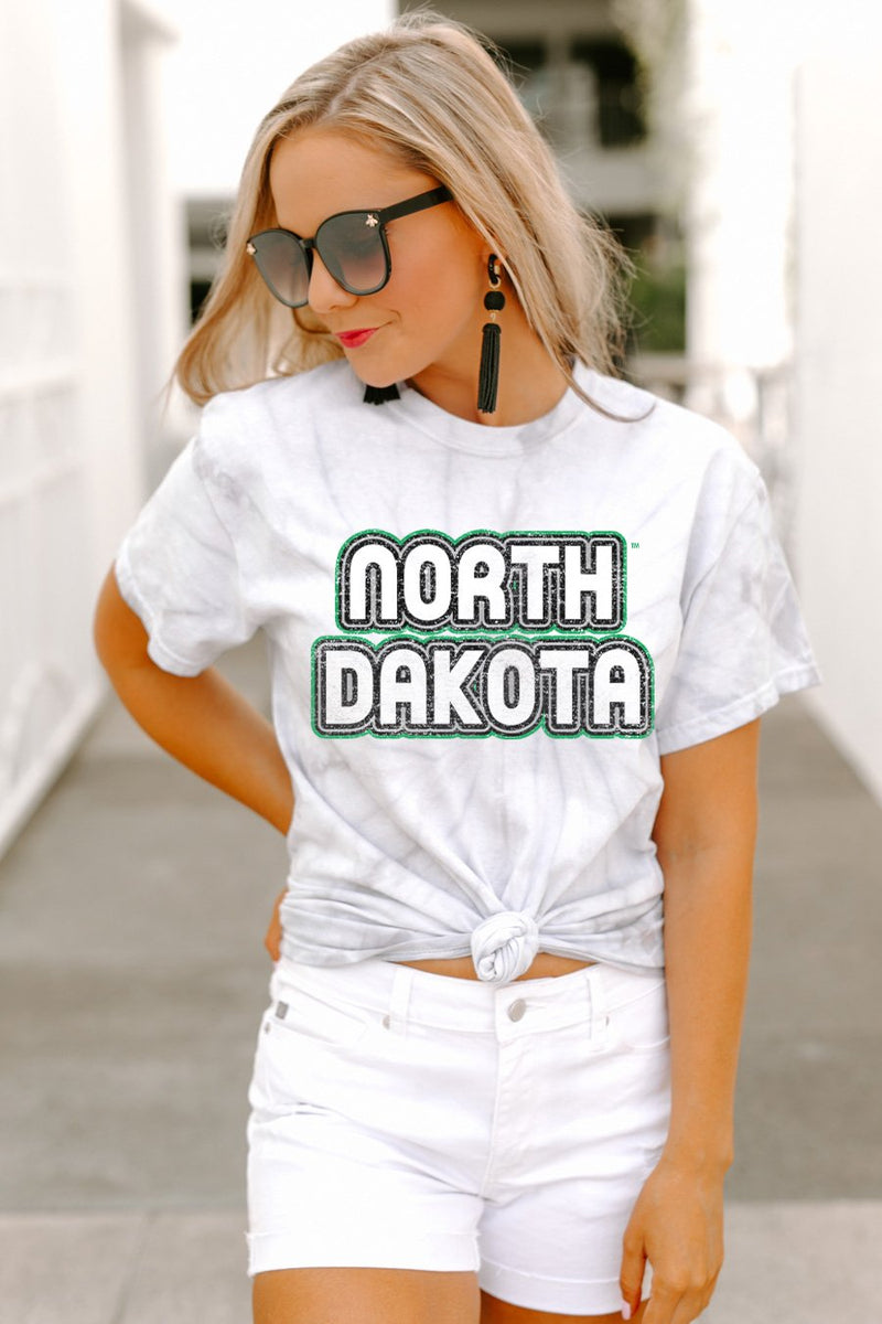 "North Dakota Fighting Hawks ""It's a Win"" Watercolor Spin Dye Top - Gameday Couture"