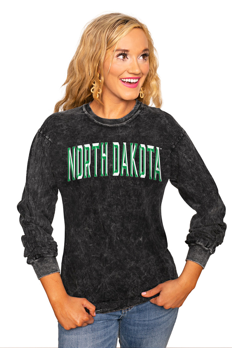 "NORTH DAKOTA FIGHTING HAWKS ""GOOD GOING"" RETRO MINERAL WASH CREW - Gameday Couture"