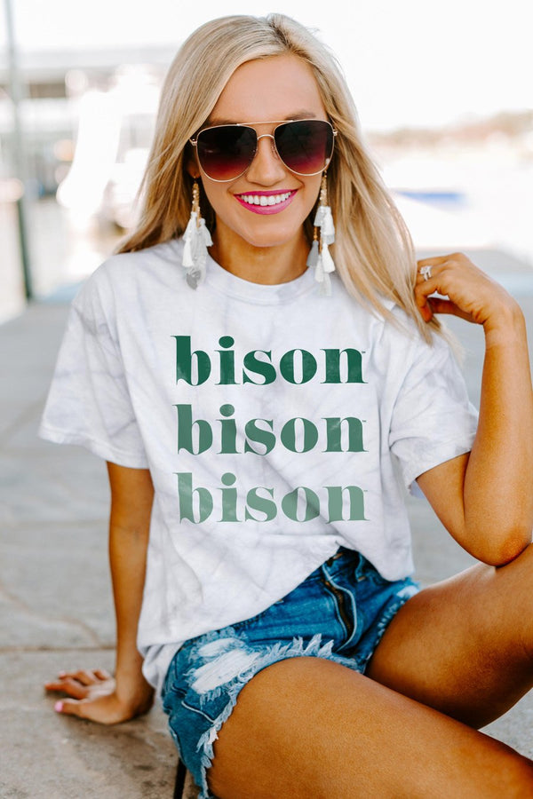 "North Dakota State Bison ""Sweet Repeat"" Watercolor Spin-Dye Top"