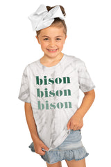 "North Dakota State Bison ""Sweet Repeat"" Youth Spin-Dye Tee - Gameday Couture"