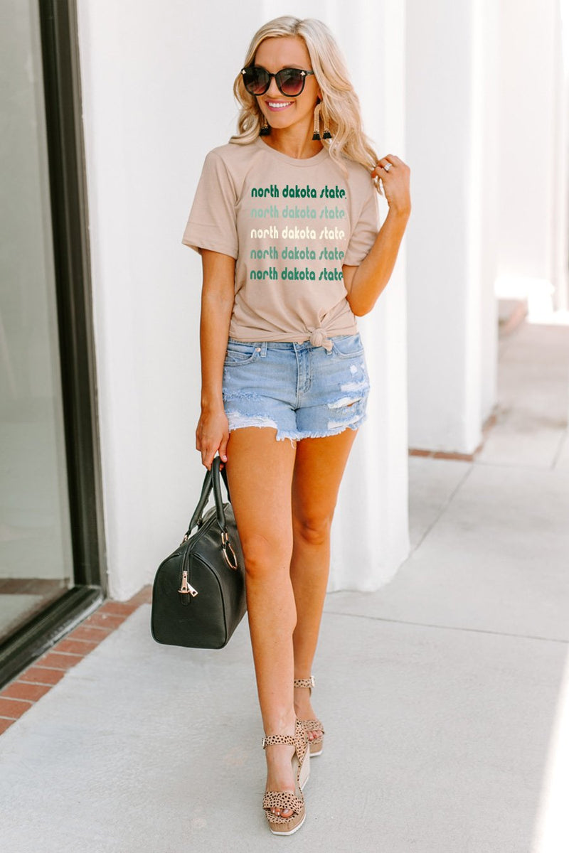 "North Dakota State Bison ""Make It Count"" Boyfriend Top - Shop The Soho"