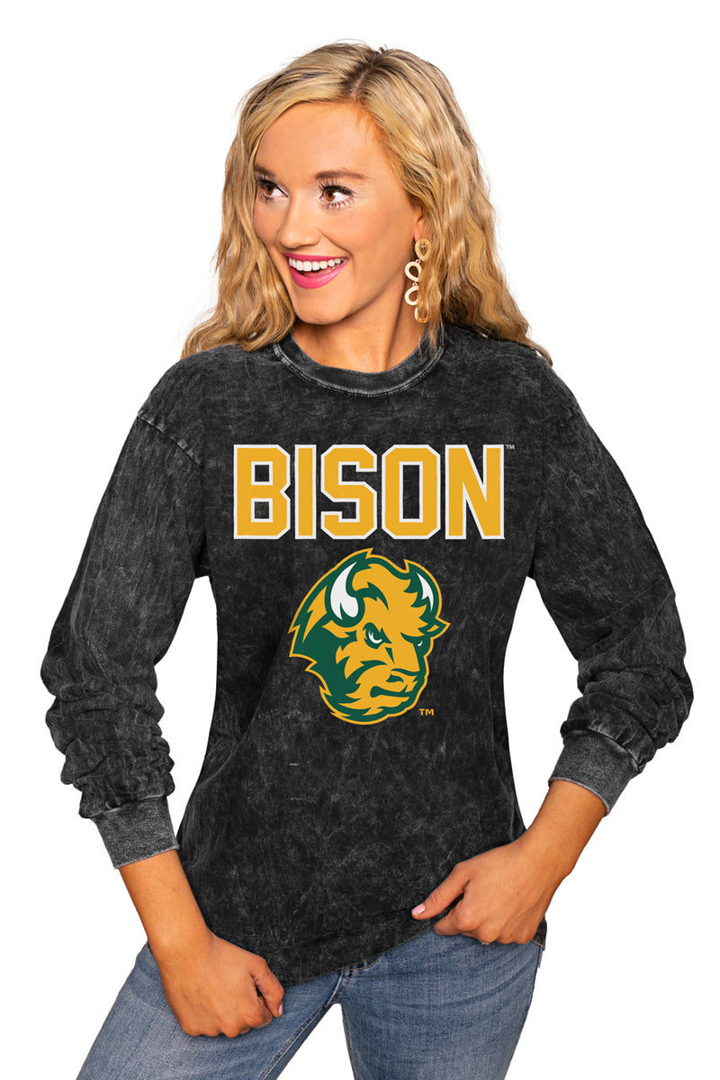"North Dakota State Bison ""Fourth Down"" Retro Mineral Wash Crew - Gameday Couture"