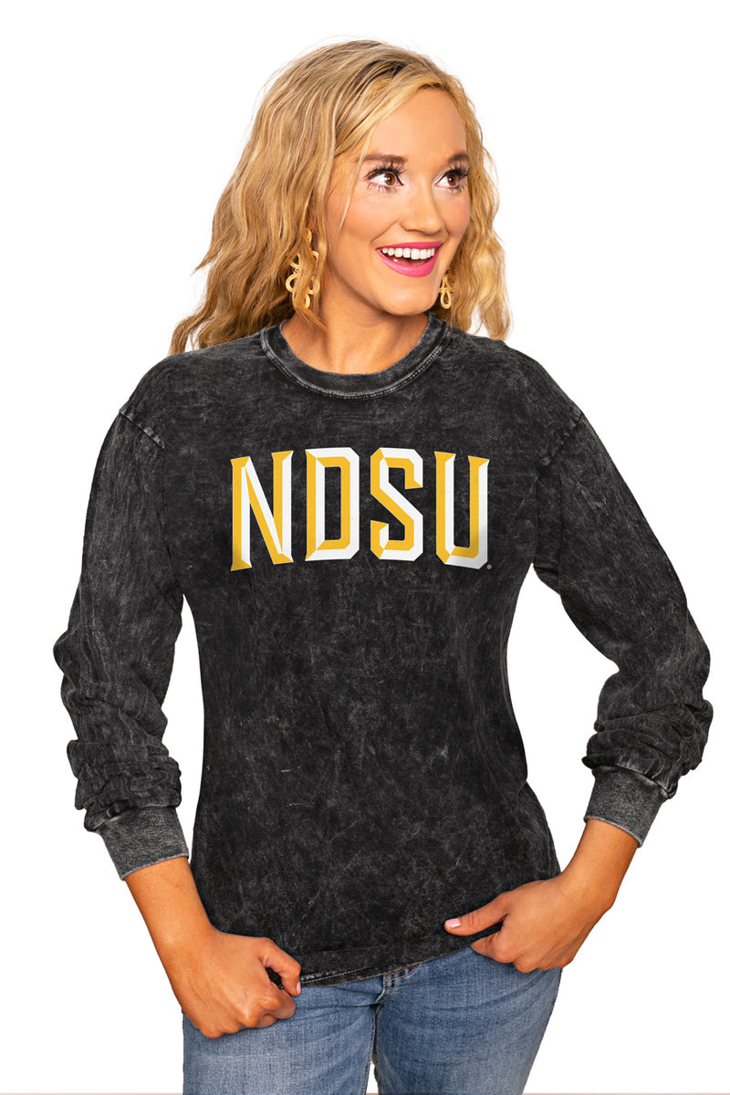"NORTH DAKOTA STATE BISON ""GOOD GOING"" RETRO MINERAL WASH CREW - Gameday Couture"