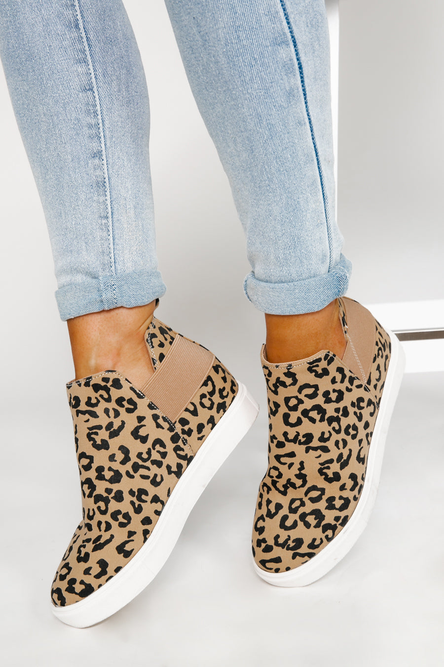 "The ""Next Steps"" Leopard Wedge Sneakers - Shop The Soho"