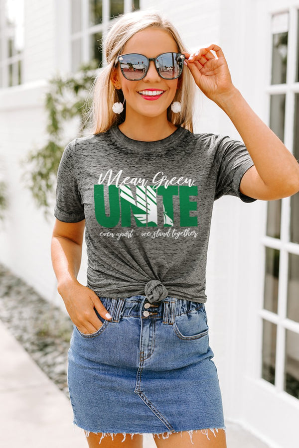 "North Texas Mean Green ""Rising Together"" Boyfriend Top"