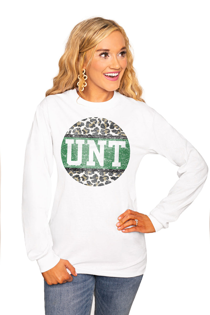 "North Texas Mean Green ""Scoop & Score"" Luxe Boyfriend Crew Tee - Shop The Soho"