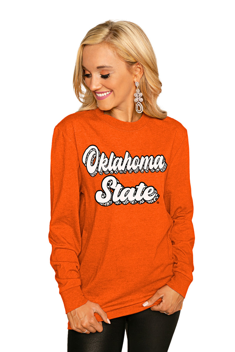 "Oklahoma State Cowboys ""Game Plan"" Luxe Boyfriend Crew - Gameday Couture"