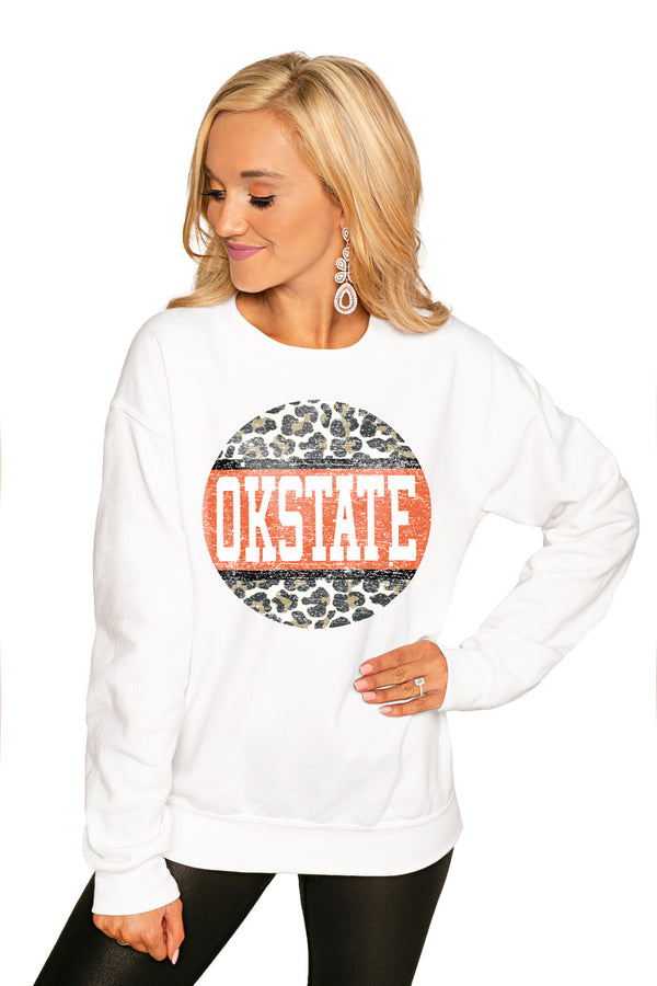 "Oklahoma State Cowboys ""Scoop & Score"" Perfect Cozy Crew Sweatshirt - Gameday Couture"