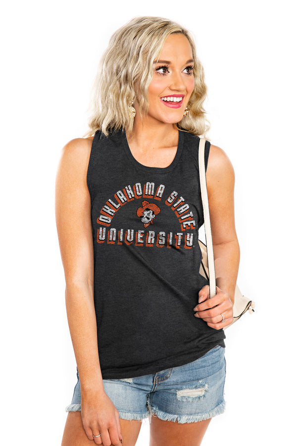 "OKLAHOMA STATE COWBOYS ""MAKE A STATEMENT"" JERSEY MUSCLE TANK - Shop The Soho"
