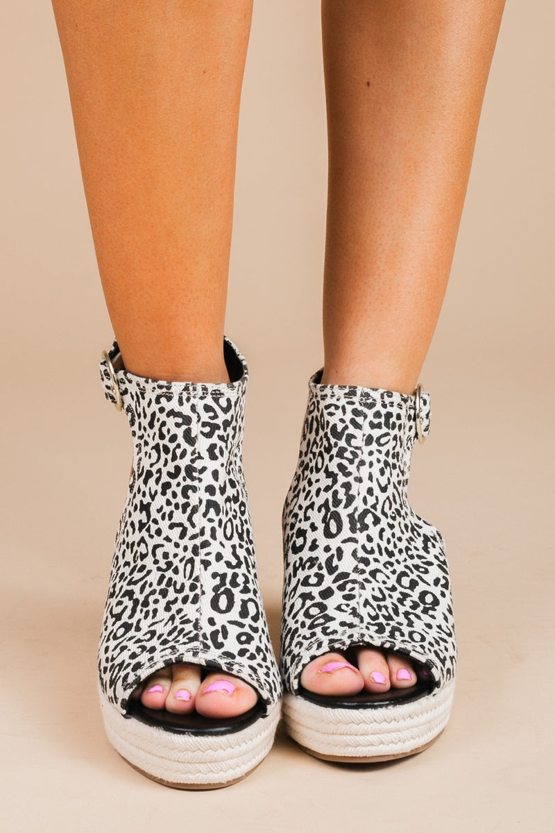 "The ""Open Up"" Ankle Strap Wedge In Leopard - Gameday Couture"