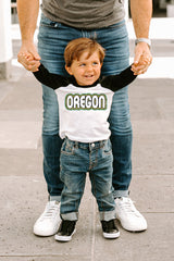 "Oregon Ducks ""It's a Win"" Toddler Raglan Tee - Gameday Couture"
