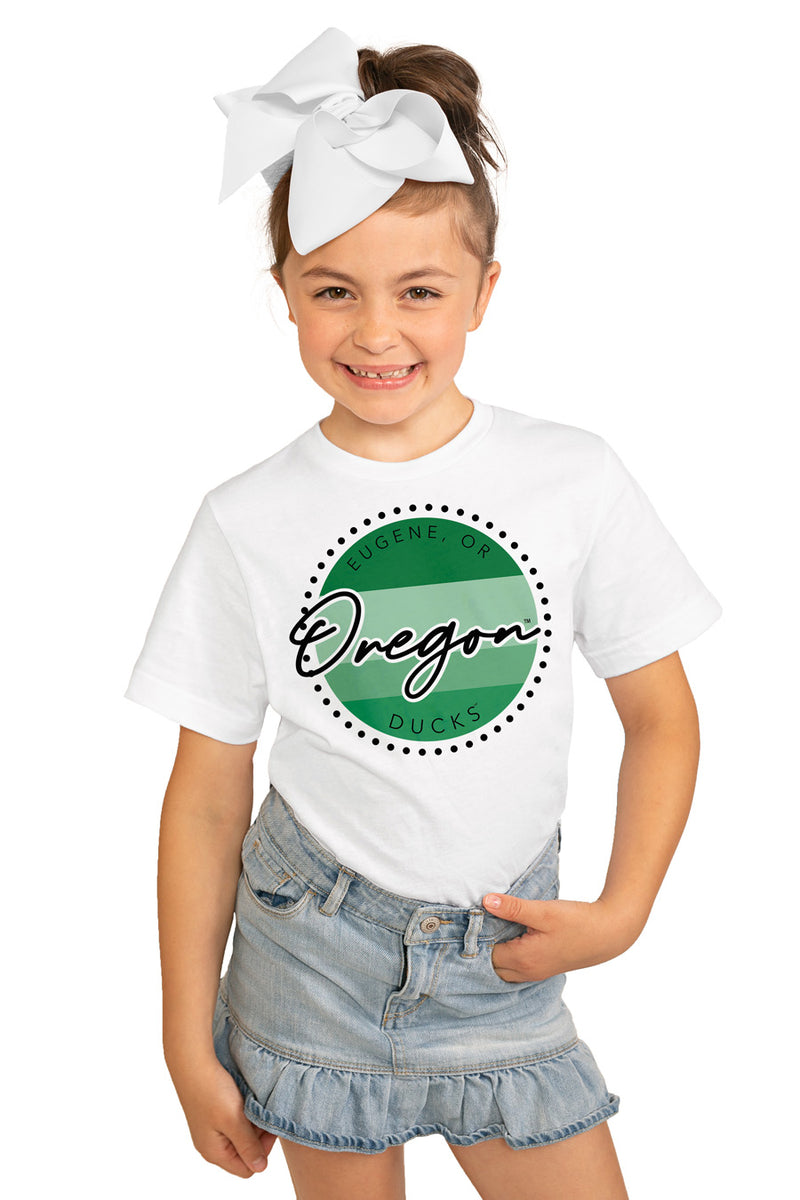"Oregon Ducks ""Faded And Free"" Youth Short-Sleeved Tee - Gameday Couture"
