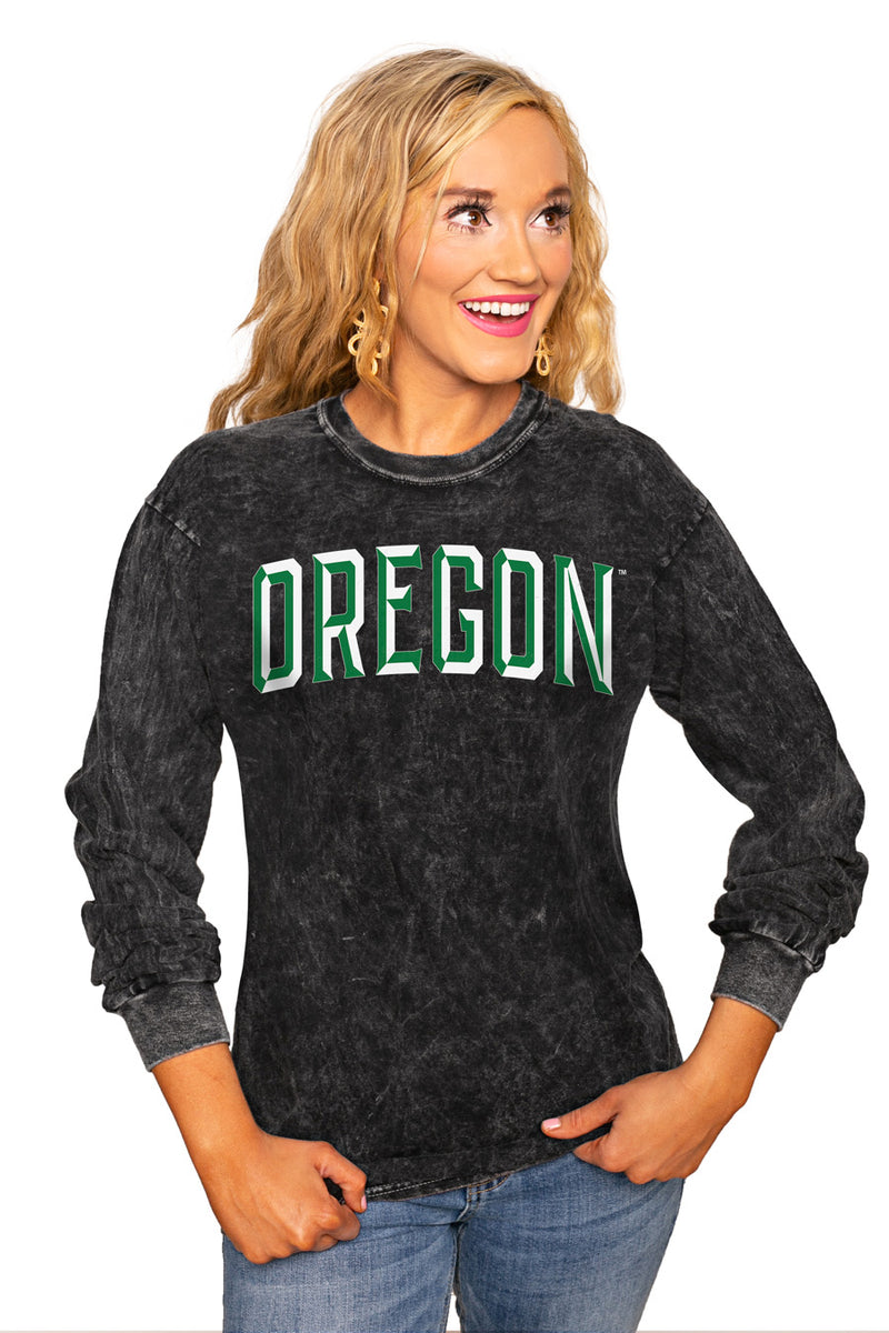 "OREGON DUCKS ""GOOD GOING"" RETRO MINERAL WASH CREW - Gameday Couture"