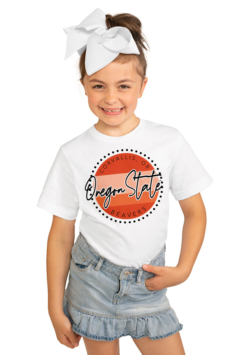 "Oregon State Beavers ""Faded And Free"" Youth Short-Sleeved Tee - Gameday Couture"
