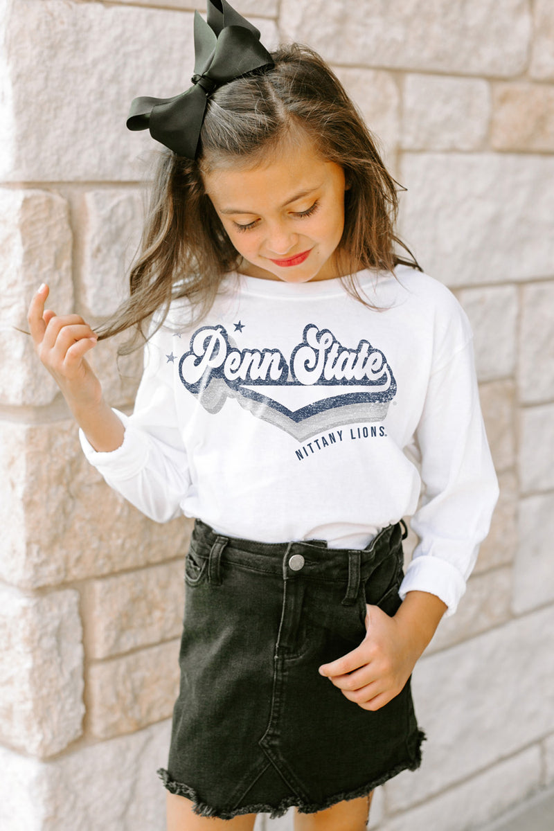 "Penn State Nittany Lions ""Vivacious Varsity Star"" Long Sleeve Youth Tee - Gameday Couture"