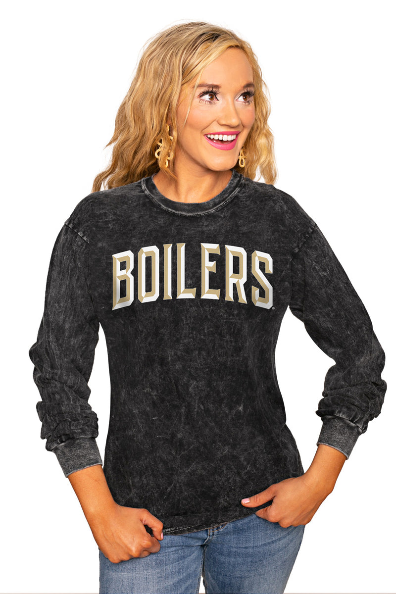 "PURDUE BOILERMAKERS ""GOOD GOING"" RETRO MINERAL WASH CREW - Gameday Couture"