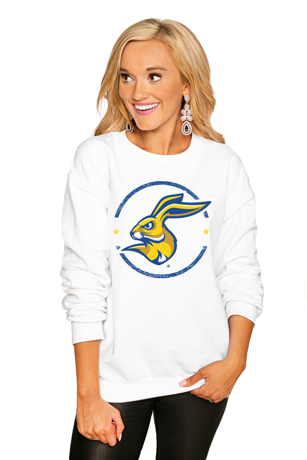 "South Dakota State Jackrabbits ""End Zone"" Perfect Cozy Crew Sweatshirt - Gameday Couture"