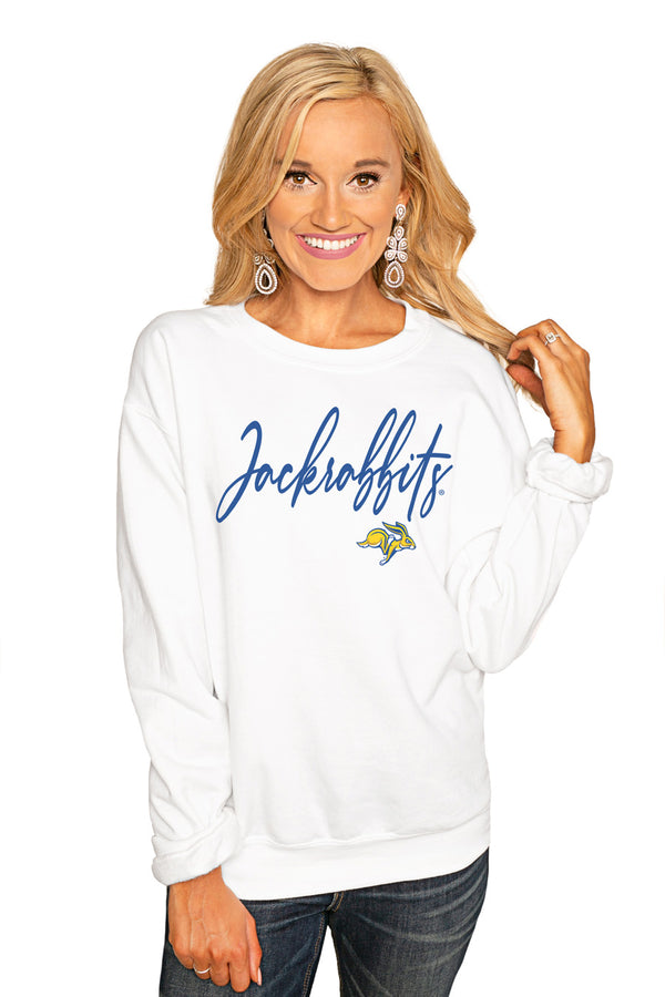 "South Dakota State ""Win The Day"" Perfect Cozy Crew Sweatshirt - Gameday Couture"