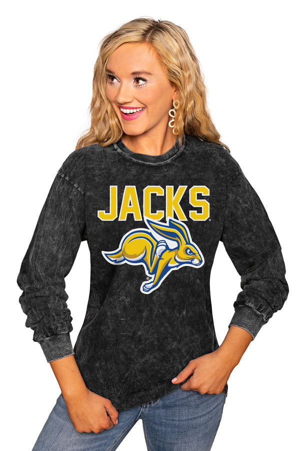"South Dakota State Jackrabbits ""Fourth Down"" Retro Mineral Wash Crew - Gameday Couture"