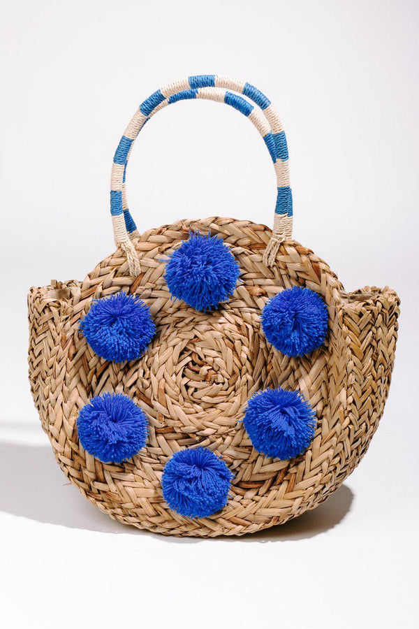 "The ""Shake Your Pom Pom"" Tote In Blue - Shop The Soho"