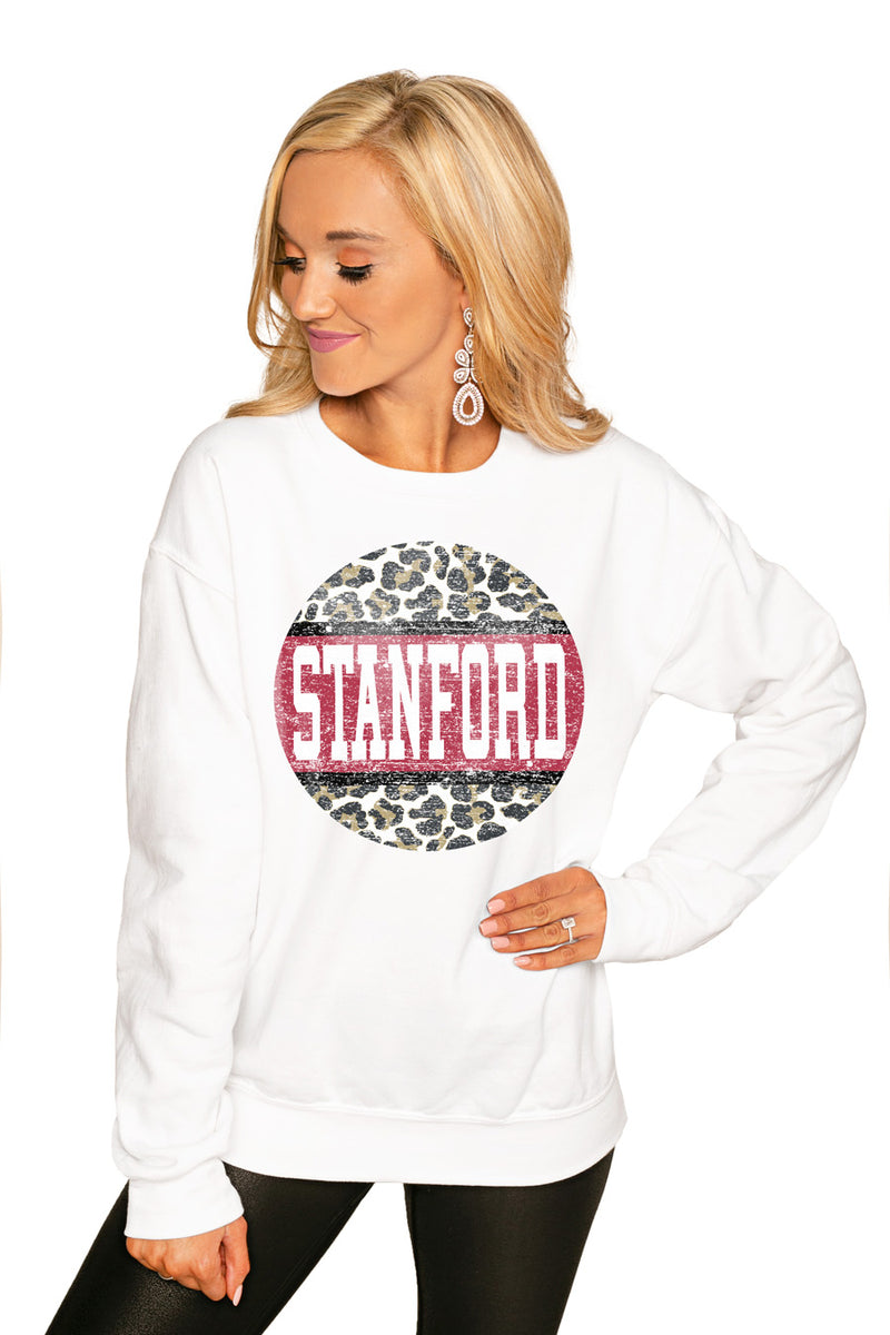 "STANFORD CARDINAL ""SCOOP & SCORE"" PERFECT COZY CREW SWEATSHIRT - Gameday Couture"
