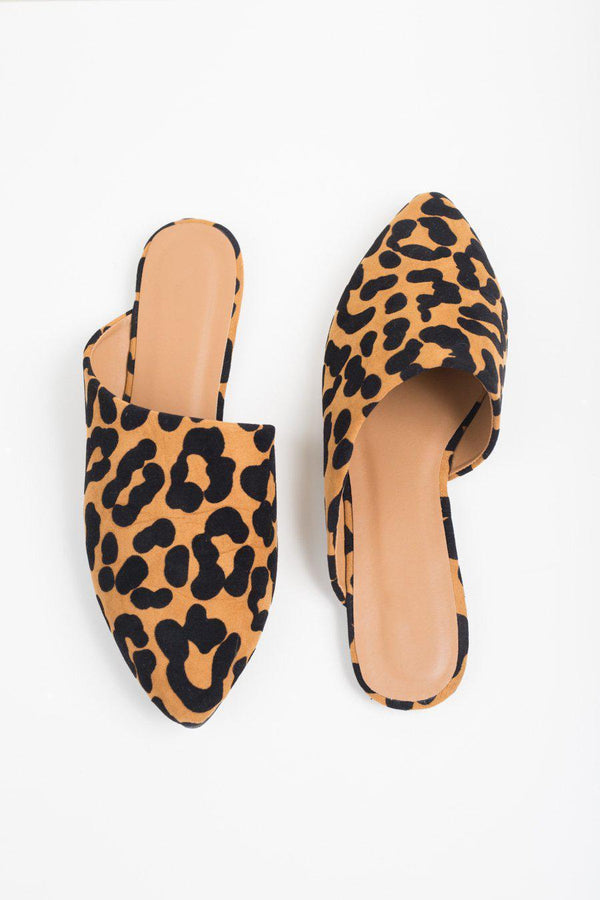 "The ""Step Into the Night"" Leopard Mules"