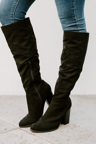 "The ""Take You There"" Knee High Boots in Black"