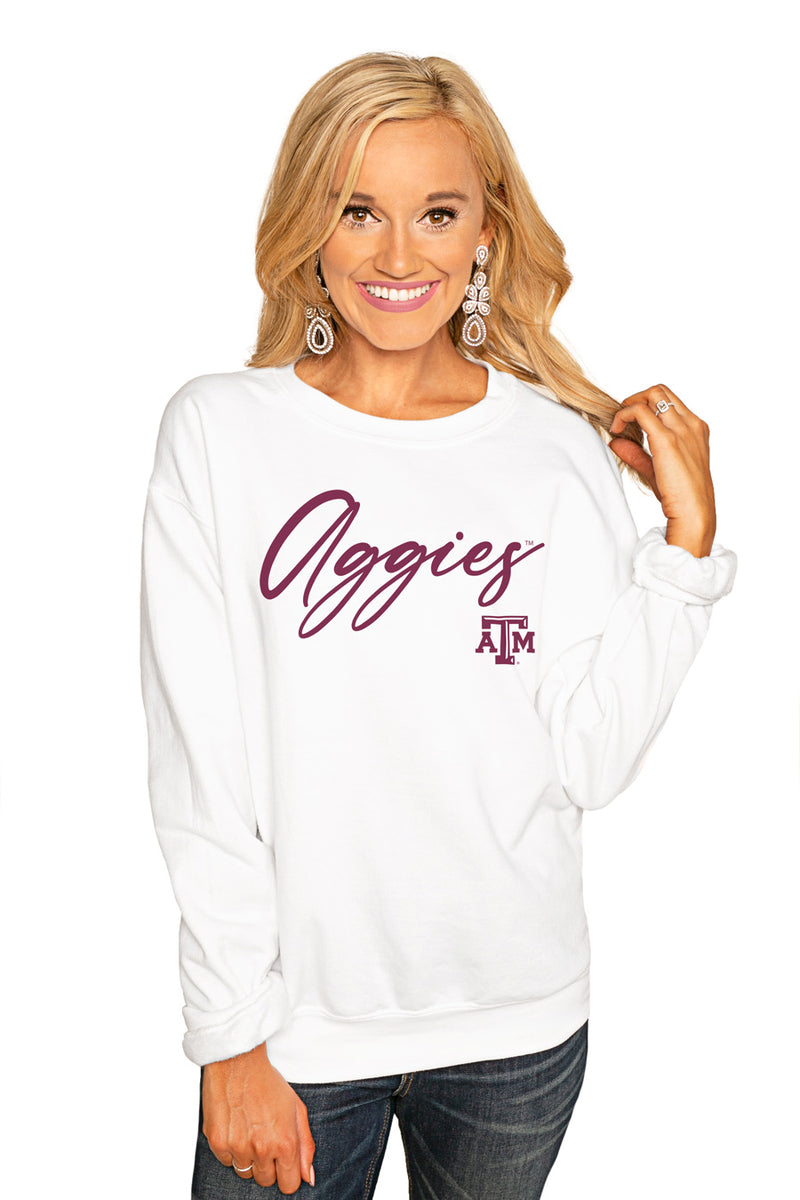 "Texas A&M Aggies ""Win The Day"" Perfect Cozy Crew Sweatshirt - Gameday Couture"