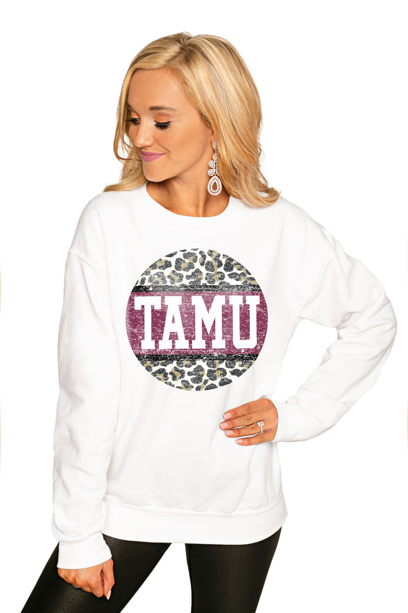 "TEXAS A&M AGGIES ""SCOOP & SCORE"" PERFECT COZY CREW SWEATSHIRT - Gameday Couture"