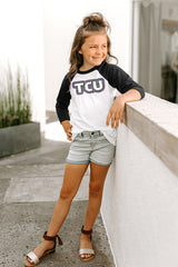"TCU Horned Frogs ""It's a Win"" Youth Raglan Tee - Gameday Couture"