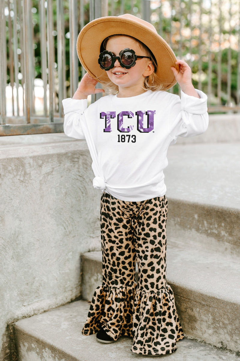 "Texas Christian University Horned Frogs ""No Time To Tie Dye"" Crewneck Long-Sleeved Tee - Gameday Couture"
