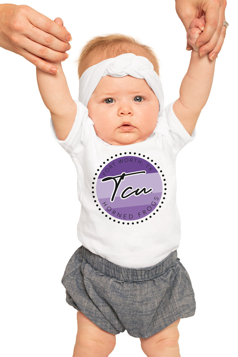 "TCU Horned Frogs ""Faded and Free"" Onesie - Gameday Couture"