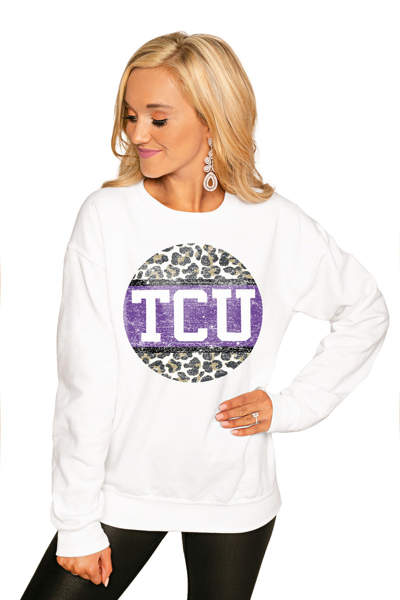 "Tcu Horned Frogs ""Scoop & Score"" Perfect Cozy Crew Sweatshirt - Gameday Couture"
