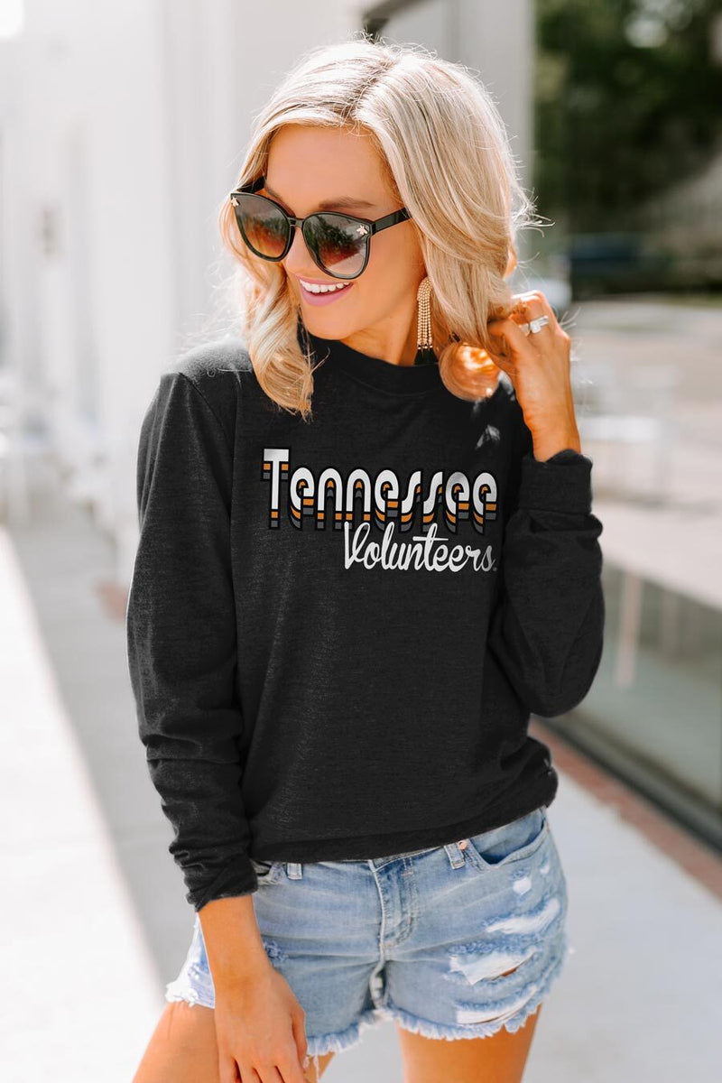 "Tennessee Volunteers ""Throwback Varsity Vibes"" Crewneck Long-Sleeved Top - Shop The Soho"