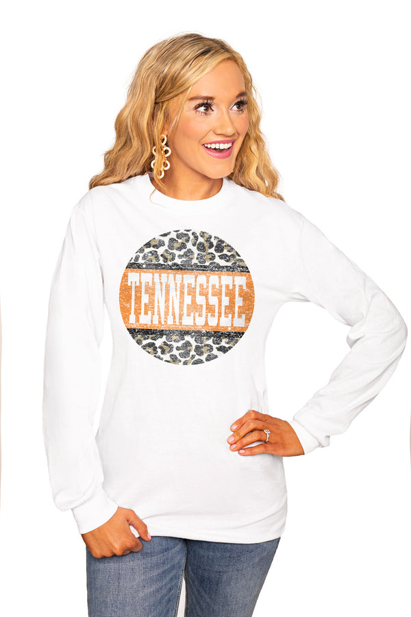 "Tennessee Volunteers ""Scoop & Score"" Luxe Boyfriend Crew Tee - Shop The Soho"