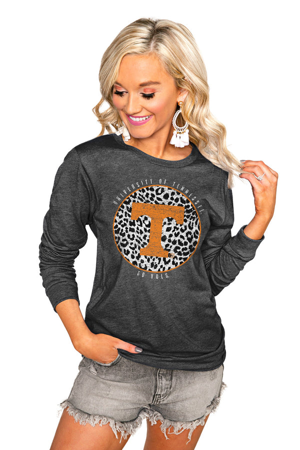 "TENNESSEE VOLUNTEERS ""CALL THE SHOTS"" LUXE BOYFRIEND LONG SLEEVE TEE"