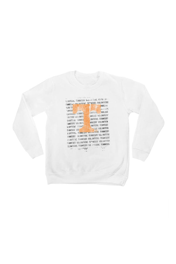 "TENNESSEE VOLUNTEERS ""BOLD TYPE"" YOUTH PERFECT CREW SWEATSHIRT"