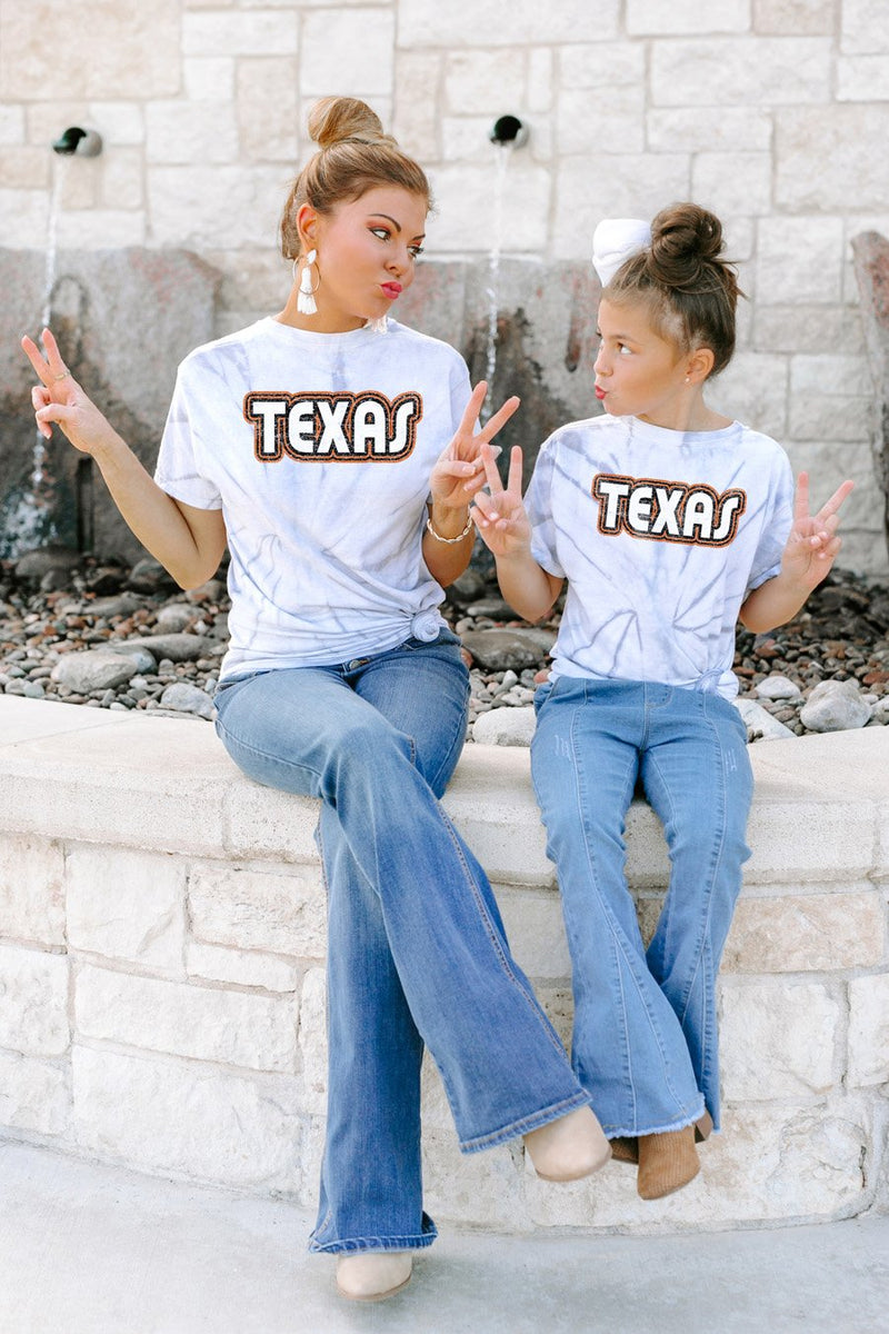 "Texas Longhorns ""It's a Win"" Watercolor Spin Dye Top - Gameday Couture"
