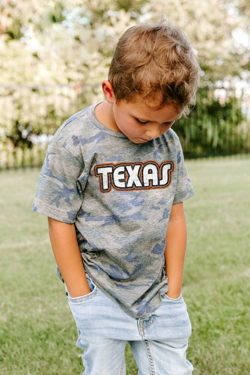 "Texas Longhorns ""It's a Win"" Camo Youth Tee - Gameday Couture"