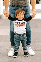 "Texas Longhorns ""Campus Legacy"" Toddler Raglan Tee - Gameday Couture"