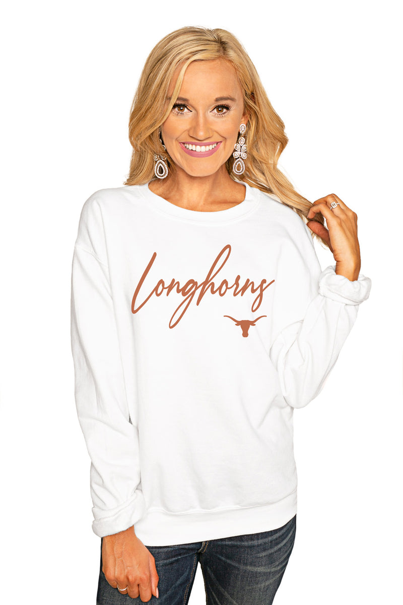 "Texas Longhorns ""Win The Day"" Perfect Cozy Crew Sweatshirt - Gameday Couture"