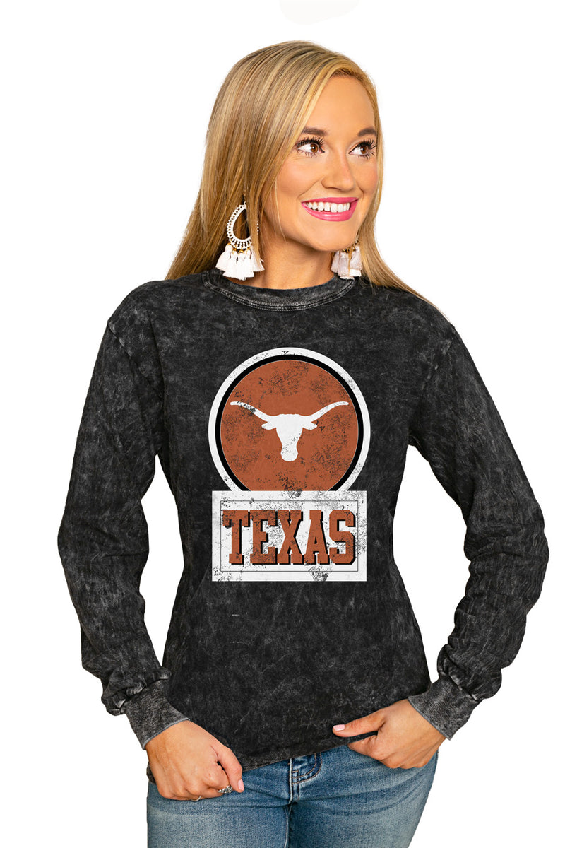 "Texas Longhorns ""Good Vibes"" Retro Mineral Wash Crew - Gameday Couture"